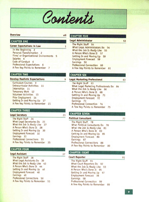 Book Table of Contents